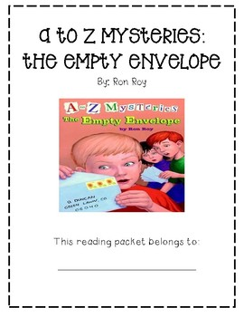 A to Z Mysteries: The Empty Envelope Guided Reading Packet