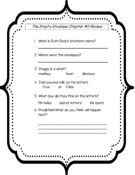 A to Z Mysteries The Empty Envelope Literacy Packet