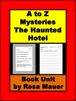 A to Z Mysteries The Haunted Hotel Book Unit