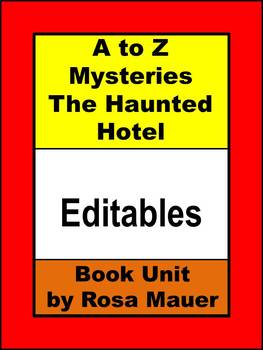 A to Z Mysteries The Haunted Hotel Editable Book Unit