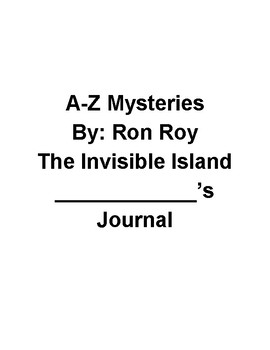 A to Z Mysteries- The Invisible Island Reading Response Journal