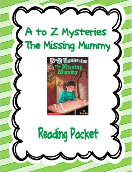 A to Z Mysteries- The Missing Mummy Reading Packet