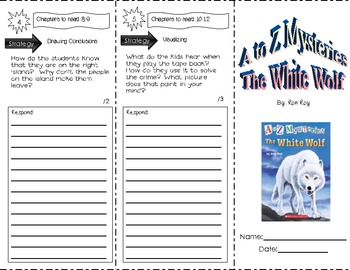 A to Z Mysteries, The White Wolf ~ Trifold