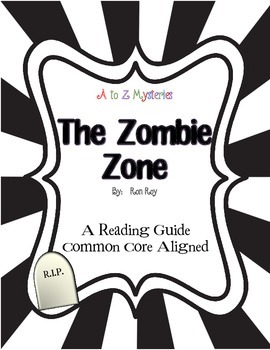 """A to Z Mysteries """"The Zombie Zone"""" Novel Study Activities"""