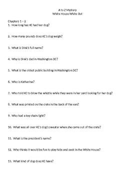 A to Z Mystery - White House White Out