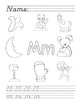 A to Z Phonics Worksheets - D'Nealian