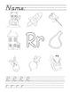 A to Z Alphabet Phonics Worksheets - D'Nealian
