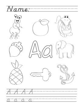 a to z alphabet phonics worksheets d 39 nealian by lauren woods tpt. Black Bedroom Furniture Sets. Home Design Ideas