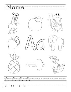 A to Z Alphabet Phonics Worksheets - Zaner Bloser
