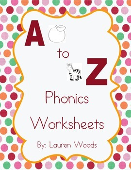 A to Z Phonics Worksheets - Zaner Bloser