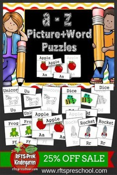 A to Z Picture Word Puzzles