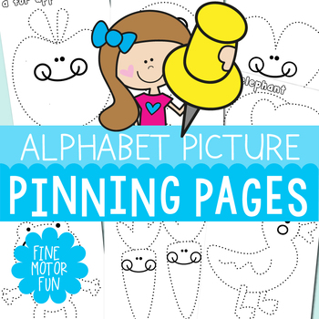Alphabet Pinning Pages {A Fine Motor Phonics Resource Packet}