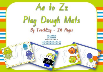 A to Z Play Dough Mats