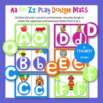 A to Z Play Dough Mats
