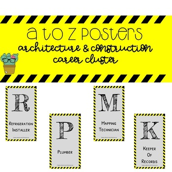 A to Z Posters - Architecture and Construction Career Cluster