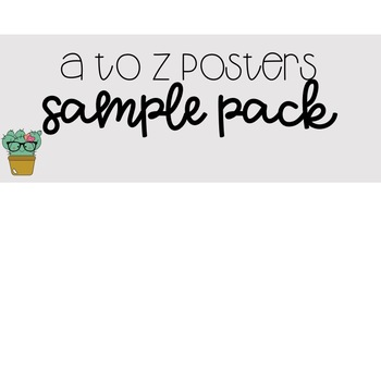 A to Z Posters - Free Sample Pack