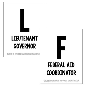 A to Z Posters - Government and Public Administration Career Cluster