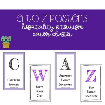 A to Z Posters - Hospitality & Tourism Career Cluster