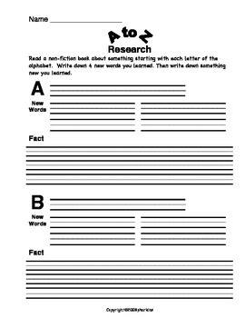 A to Z Research