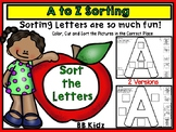 A to Z Sorting Activities