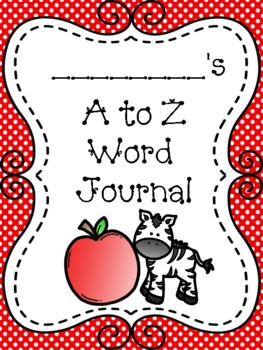 A to Z Student Word Journal