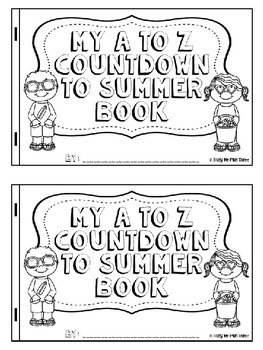 Fun End of Year Activity A to Z Summer Countdown Celebration{EDITABLE}