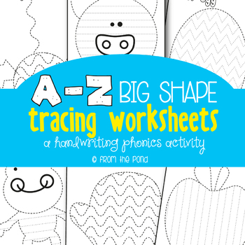 Alphabet Picture Tracing Activities - Great for Kindergarten by From ...