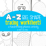 Alphabet Picture Tracing Activities - Great for Kindergarten