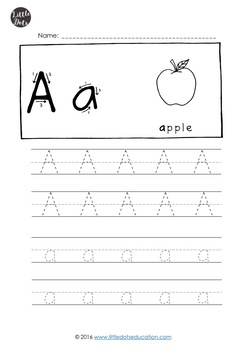 Alphabet Tracing Activities
