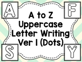 A to Z Uppercase Writing (Version 1 - Starting Dots)