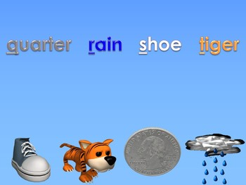 A to Z Vocabulary Match 4 PowerPoint Show