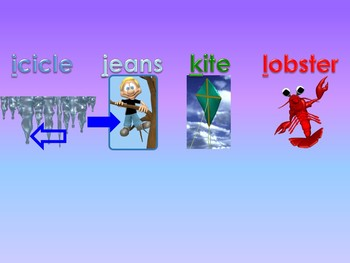 A to Z Vocabulary Match 8 PowerPoint Show