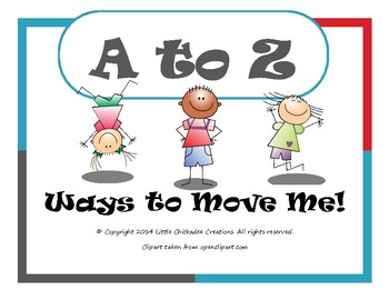 A to Z Ways to Move Me