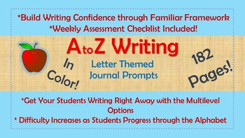 A to Z Weekly Writing Prompts- In Color!