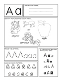 Alphabet Worksheets A to Z - No Prep