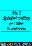 A to Z Writing Practice Worksheets