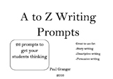 A to Z Writing Prompts