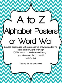A to Z and Word Wall Posters