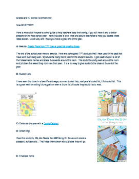 A to Z end of the year activities