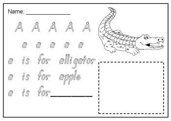 A to Z handwriting letter tracing sheets