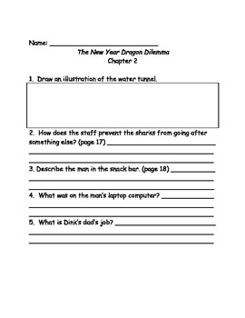 A to Z mysteries: The New Year Dragon Dilemma comprehension questions