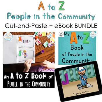 A to Z of People in the Community BUNDLE (Printables + Digital eBook)