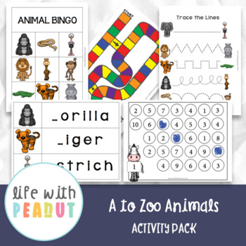 A to Zoo Animals Activity Pack