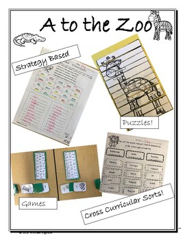 A to the Zoo. Alphabetizing (ABC Order) - Prep for reference Materials!