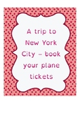 A trip to New York City: book your plane tickets!