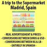 A trip to the Supermarket in Madrid, Spain! - Activity in Spanish