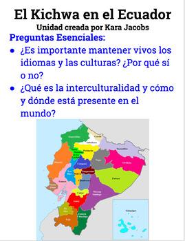 A unit about El kichwa en el Ecuador