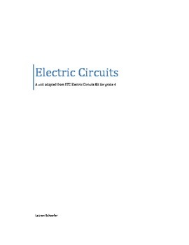 STC Electric Circuits Kit (Electricity) -an adapted unit
