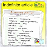 Indefinite article (5 distance learning worksheets for whe