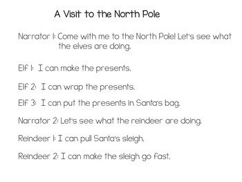 A visit to the North Pole: A kindergarten reader's theater
